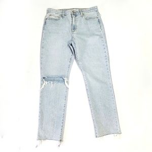 Joe's Jeans mid rise ripped slim ankle jeans 29
